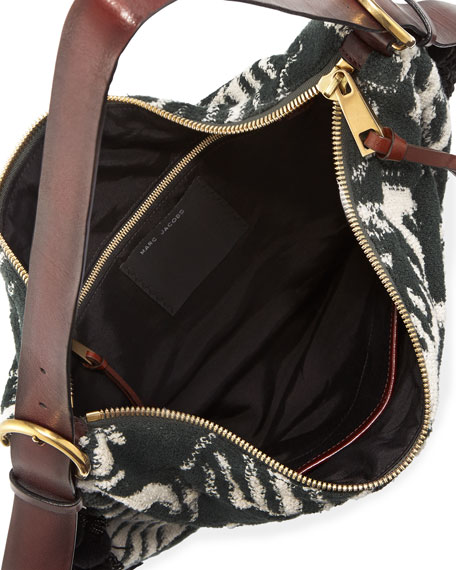 Woodblock Terry Nomad Hobo Bag, Multi