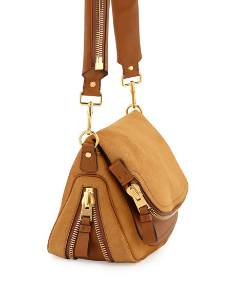 Jennifer Medium Combo Crossbody Bag, Tan