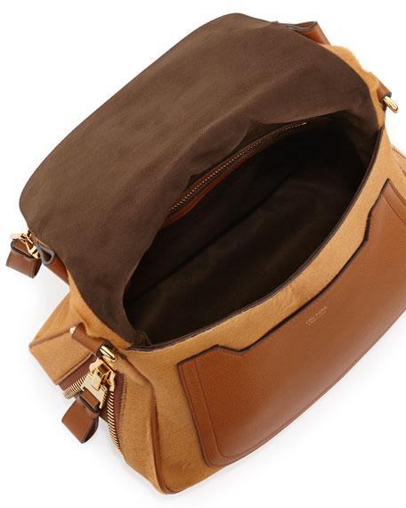 Jennifer Medium Combo Crossbody Bag, Tan
