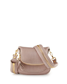 Tom Ford Jennifer Mini Python Crossbody Bag, Neutral