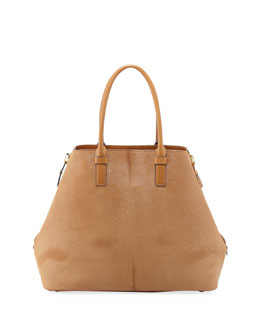 Tom Ford Jennifer Calf Hair Tote Bag, Camel
