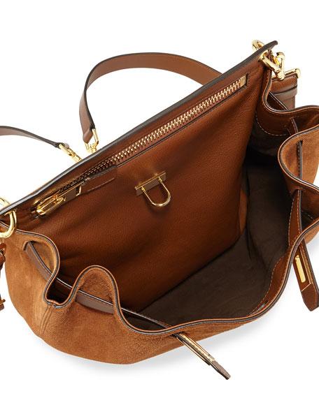 Lock-Front Sling Bag, Camel