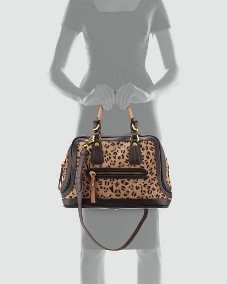 Kendal Leopard Satchel Bag