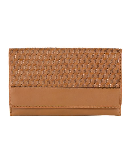 Parker Woven Leather Clutch Bag