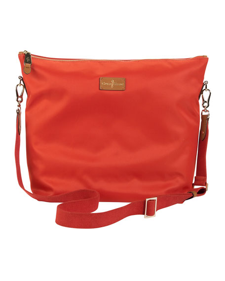 Bellport Double-Tote Bag, Brown/Orange