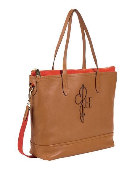 Bellport Double-Tote Bag, Brown/Orange