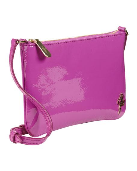 Jitney Mini Patent Crossbody Bag, Purple