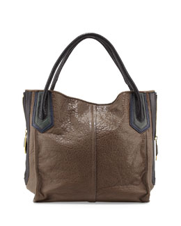 Oryany Ruby Zip-Side Tote Bag, Taupe/Multi