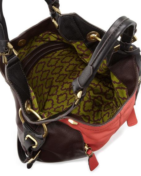 Victoria Colorblock Shoulder Bag, Clay/Multi