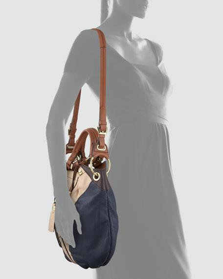 Victoria Colorblock Shoulder Bag, Sand/Multi