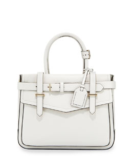 Reed Krakoff Boxer Pebbled Leather Tote Bag, White