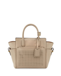 Reed Krakoff Atlantique Mini Perforated Tote Bag, Tan