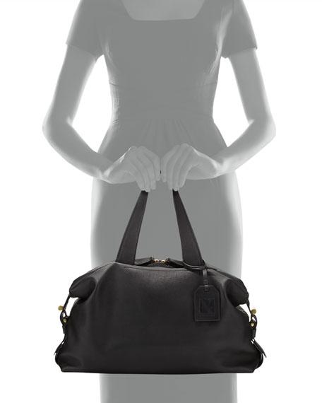 Mini Atlas Satchel Bag, Black