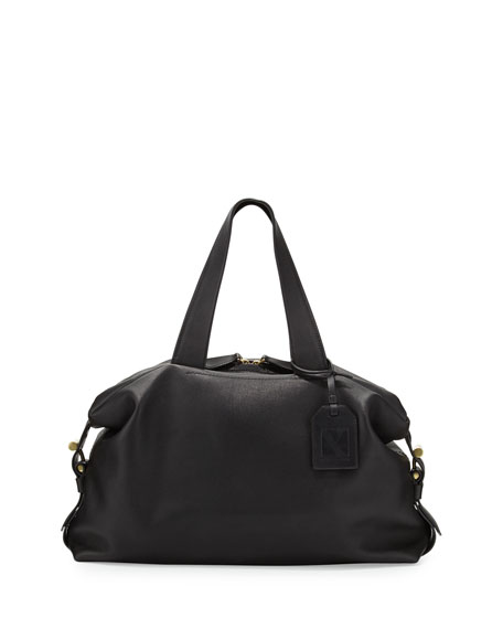Mini Atlas Satchel Bag, Black