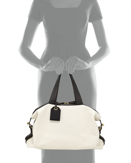 RDK Bicolor Satchel Bag, White/Black