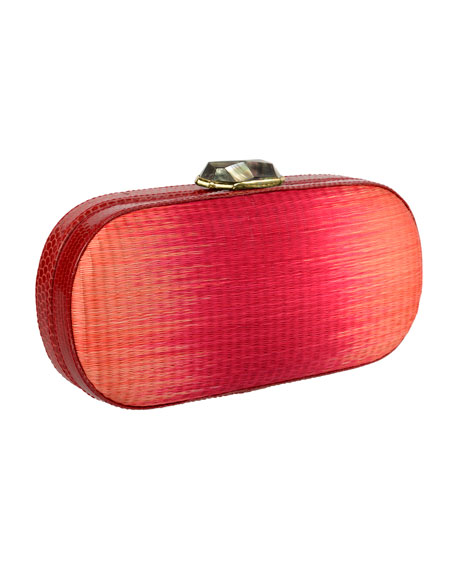 Mary Alice Ombre Box Clutch Bag, Red/Persimmon