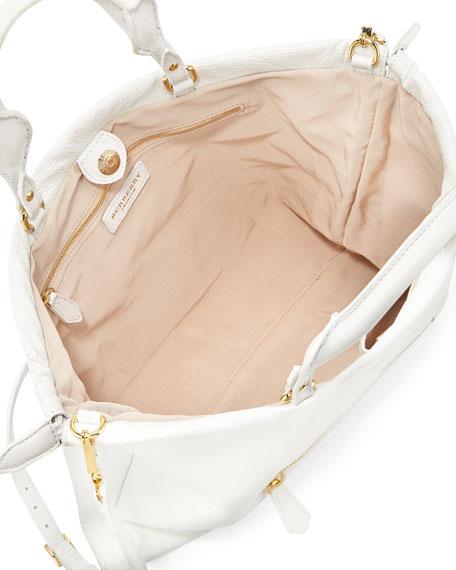 Deerskin Shoulder Bag, White