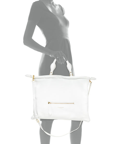 Deerskin Shoulder Bag, White