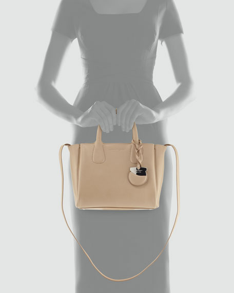 Nolita Calfskin Tote Bag, Beige
