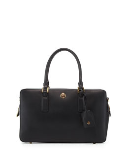 Tory Burch Robinson Square Satchel Bag, Black