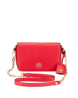Tory Burch Robinson Mini Chain-Strap Bag, Hot Pink