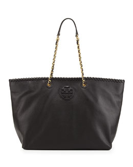 Tory Burch Marion East-West Tote Bag, Black
