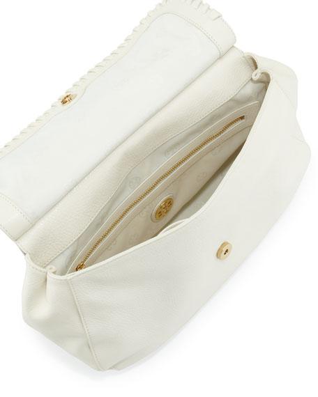 Marion Leather Saddle Bag, Ivory
