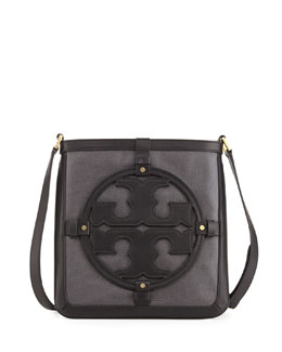 Tory Burch Holly Bookbag Crossbody, Black