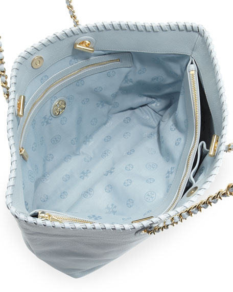 Marion East-West Tote Bag, Light Blue