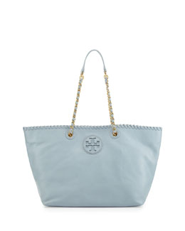 Tory Burch Marion Small East-West Tote Bag, Light Blue