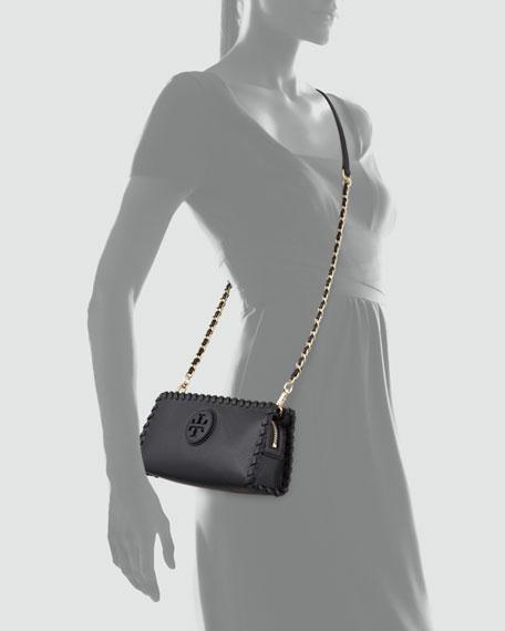 Marion Whipstitch Crossbody Clutch Bag, Black
