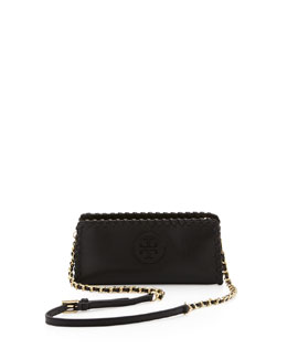 Tory Burch Marion Whipstitch Crossbody Clutch Bag, Black