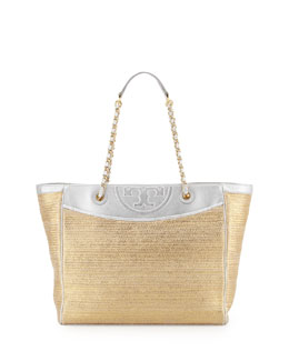 Tory Burch Fleming Metallic Tote Bag, Bag