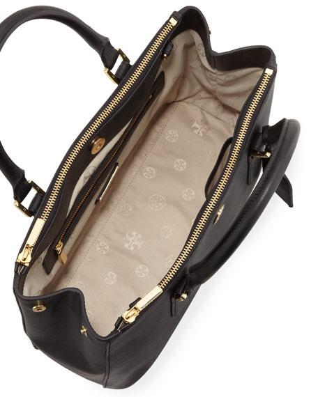 Robinson Mini Double-Zip Tote Bag, Black