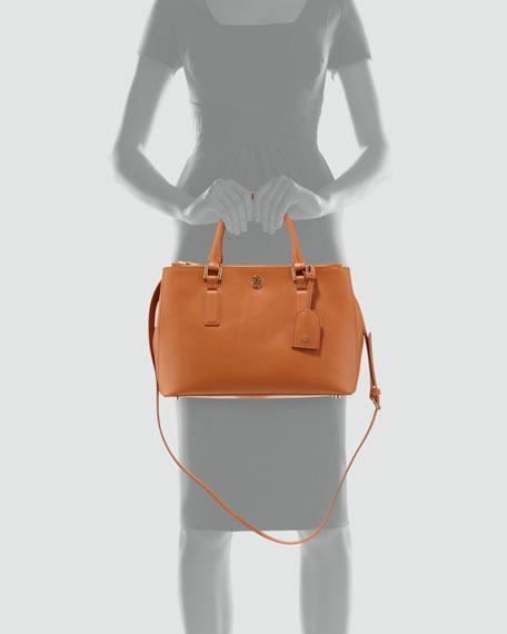 Robinson Mini Double-Zip Tote Bag, Luggage