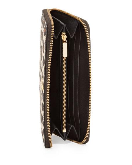 Robinson Zip Continental Wallet, Leopard