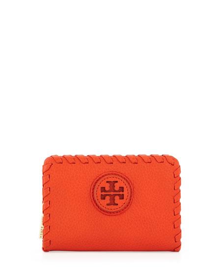 Marion Whipstitch Zip Coin Pouch, Orange