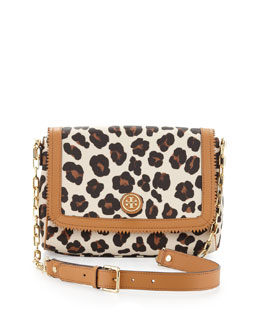 Tory Burch Kerrington Leopard-Print Crossbody Bag