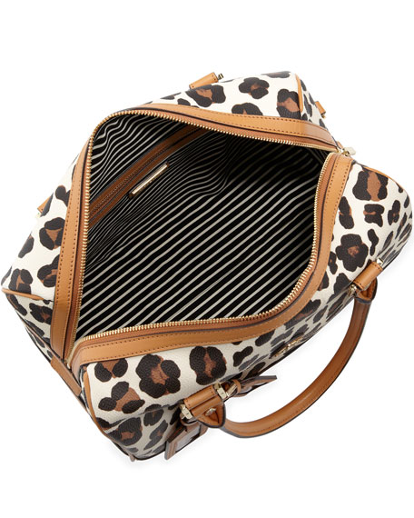 Kerrington Leopard-Print Satchel Bag