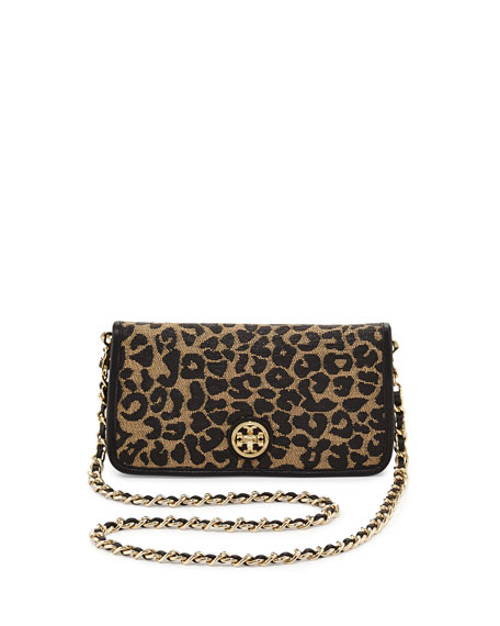 Adalyn Leopard Raffia Clutch Bag, Natural/Black