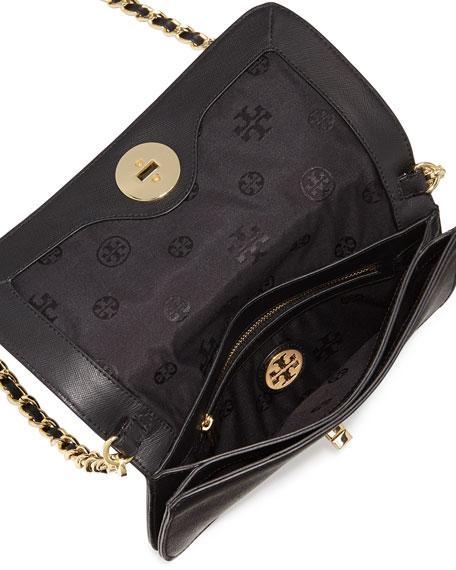 Adalyn Saffiano Crossbody Clutch Bag, Black