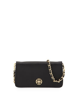 Tory Burch Adalyn Saffiano Crossbody Clutch Bag, Black