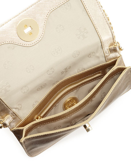 Adalyn Metallic Crossbody Clutch Bag, Gold