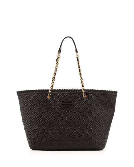 Marion Quilted Tote Bag, Black