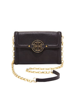 Tory Burch Amanda Wallet On A Chain, Black