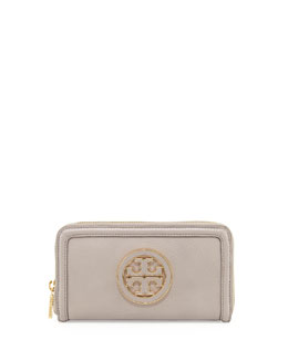 Tory Burch Amanda Continental Zip Wallet, Gray