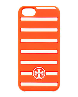 Tory Burch Fleet Stripe Silicone iPhone 5 Case, Red