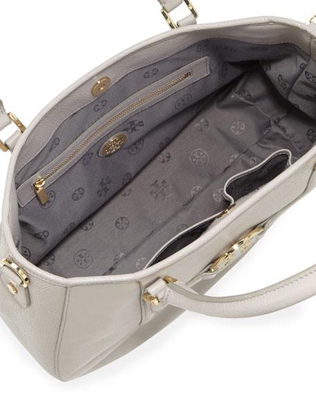 Amanda Pebbled Hobo Bag, Gray