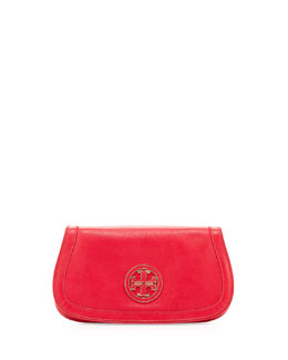 Tory Burch Amanda Logo Clutch Bag, Hot Pink