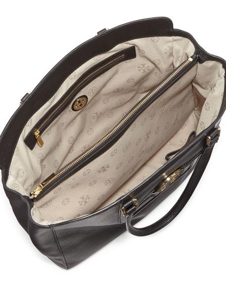 Amanda Triple-Compartment Tote Bag, Black